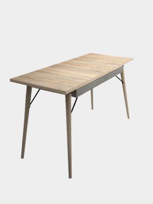 โต๊ะทำงานขาไม้ยาง