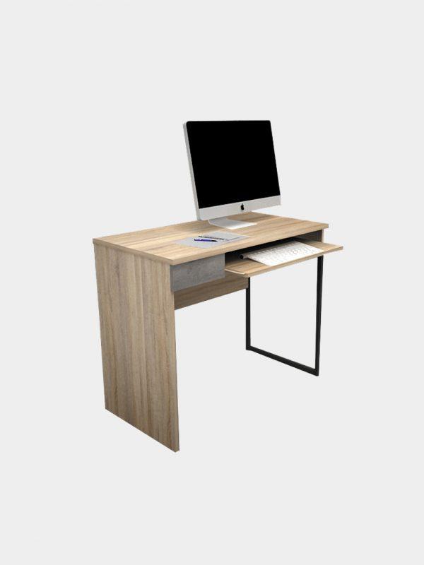 โต๊ะทำงานพร้อมที่วางคีย์บอร์ด