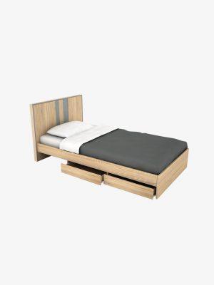 เตียง Accord 3.5 ฟุต สีโซลิดโอ๊ค-ซีเมนต์
