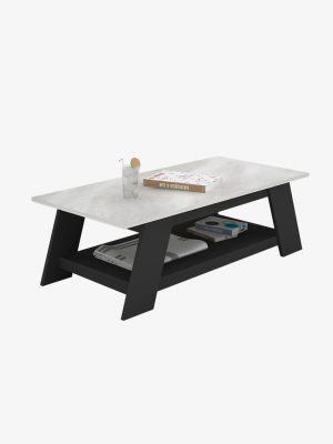 โต๊ะกลาง สีกราไฟต์-หินอ่อน