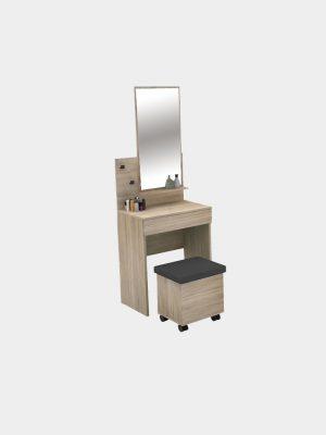 โต๊ะเครื่องแป้ง ขนาด 60 ซม. สีโซลิดโอ๊ค