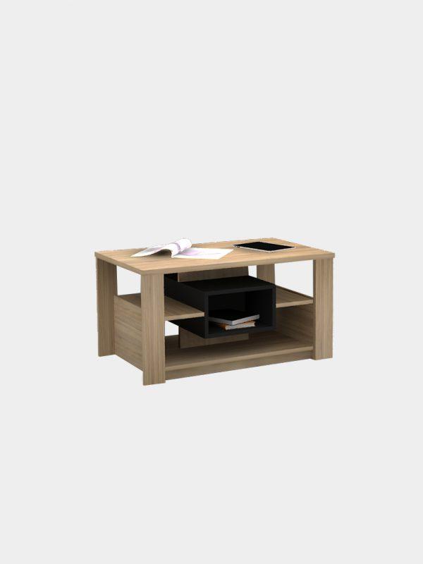 โต๊ะกลาง สีโซลิดโอ๊ค-ดำ