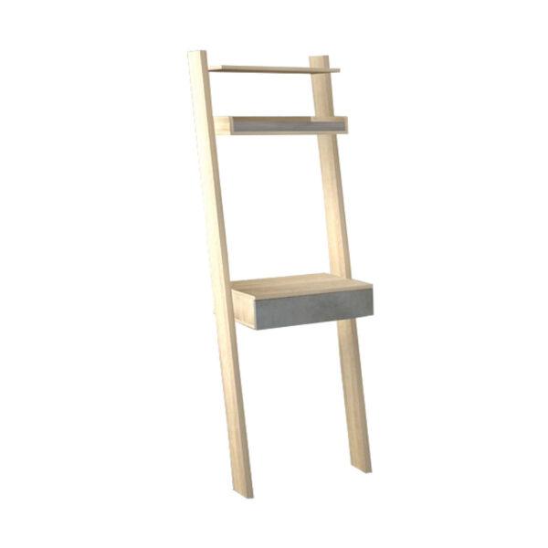 โต๊ะพิงกำแพงพร้อมชั้นวางของ