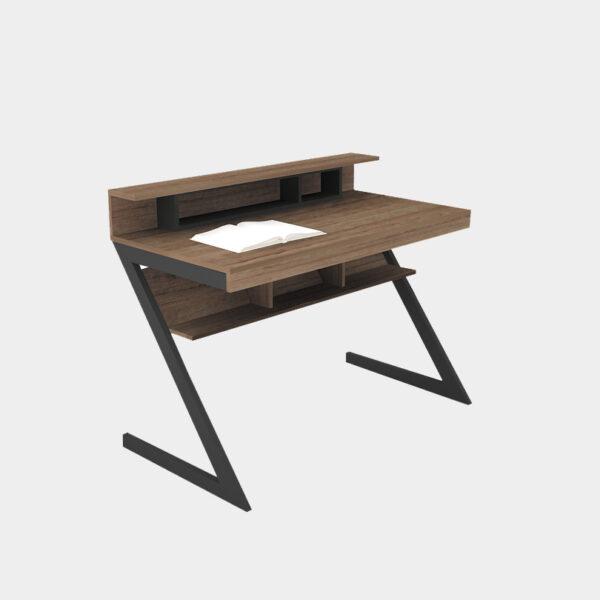 โต๊ะทำงานขาเหล็ก สีลอฟท์