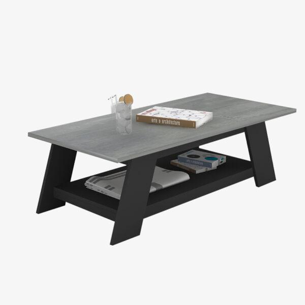 โต๊ะกลาง สีกราไฟต์-ซีเมนต์