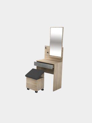 โต๊ะเครื่องแป้ง ขนาด 60 ซม. สีโซลิดโอ๊ค-ซีเมนต์