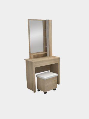 โต๊ะเครื่องแป้ง ขนาด 80 ซม. สีโซลิดโอ๊ค-ซีเมนต์