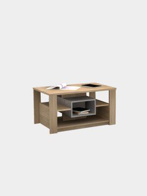 โต๊ะกลาง สีโซลิดโอ๊ค-ซีเมนต์