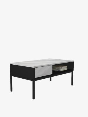โต๊ะกาแฟ สีกราไฟต์-หินอ่อน