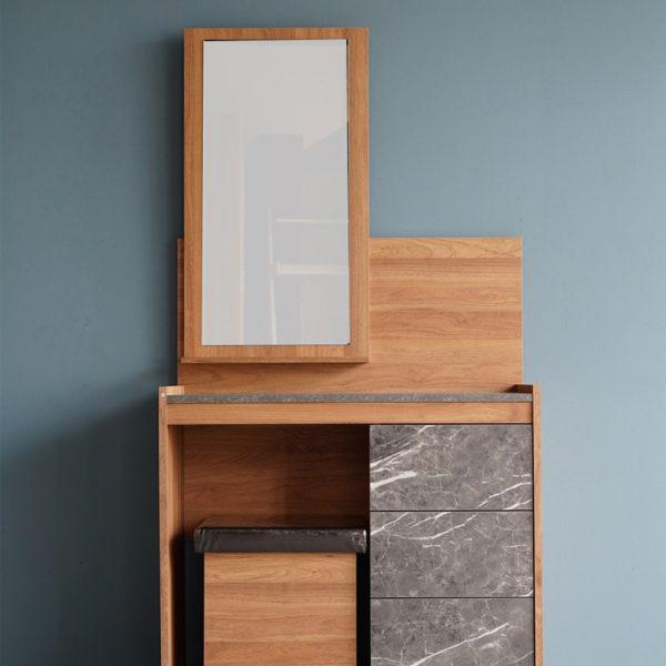 โต๊ะเครื่องแป้ง Cologne สีฮันนี่วอลนัท-หินอ่อนนอร์ดิค