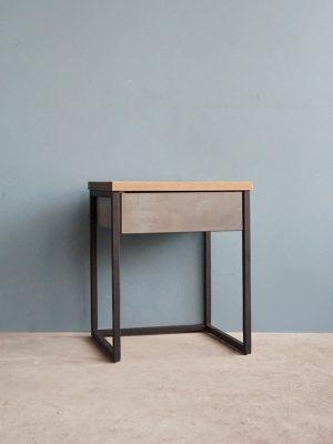โต๊ะกาแฟ 40cm สีซีเมนต์-โซลิดโอ๊ค