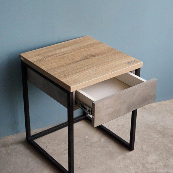 โต๊ะกาแฟ Berlin 4001 สีซีเมนต์-โซลิดโอ๊ค