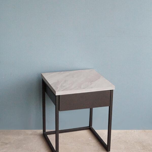 โต๊ะกาแฟ 40cm สีกราไฟต์-หินอ่อน