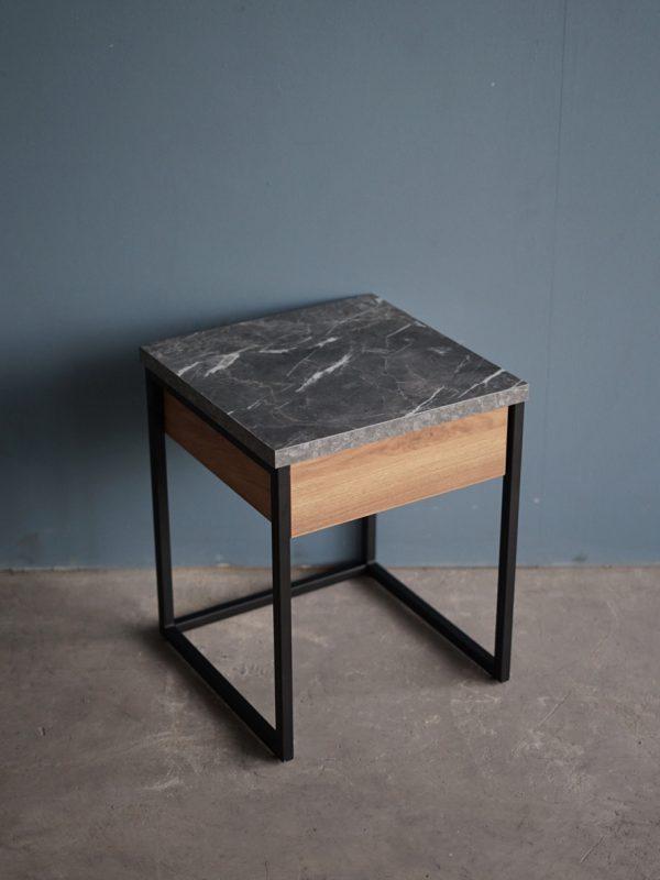 โต๊ะกาแฟ 40cm สีฮันนี่วอลนัท-หินอ่อนนอร์ดิค