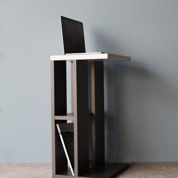 โต๊ะข้างโซฟา กว้าง32ซม สีกราไฟต์-หินอ่อน