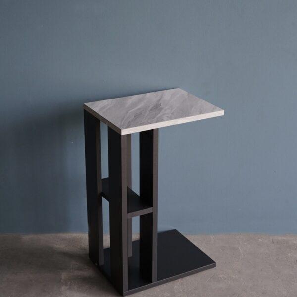 โต๊ะข้างโซฟา กว้าง40ซม สีกราไฟต์-หินอ่อน
