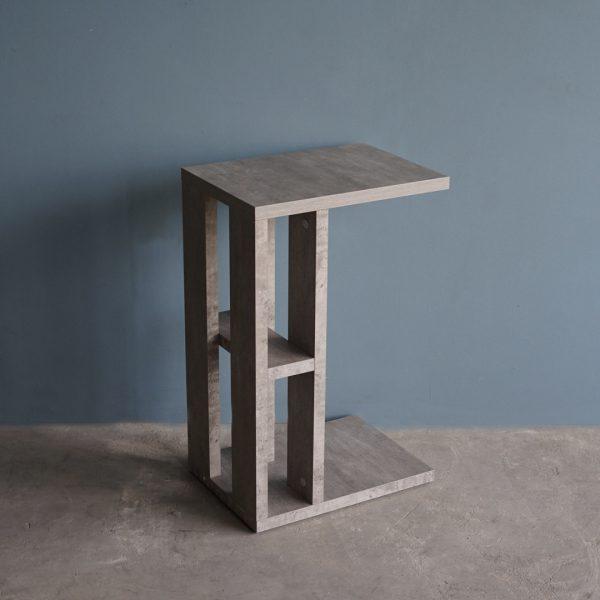 โต๊ะข้างโซฟา กว้าง42ซม สีซีเมนต์