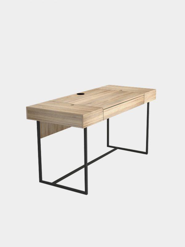 โต๊ะทำงานขาเหล็ก กว้าง 140 ซม