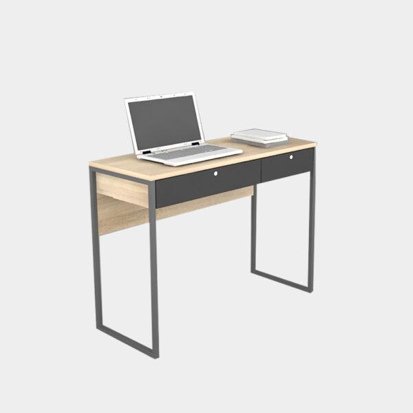 โต๊ะทำงานขาเหล็กคู่
