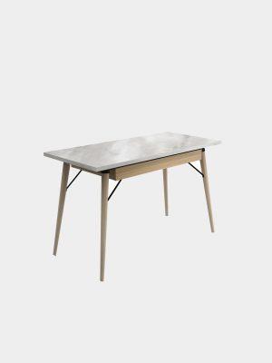 โต๊ะทำงานขาไม้ยาง ลายหินอ่อน