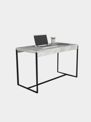 โต๊ะทำงานขาเหล็ก ลายหินอ่อน