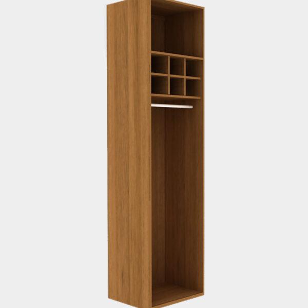 Walk-in Closet สำหรับแขวนเดรสยาว สีฮันนี่วอลนัท
